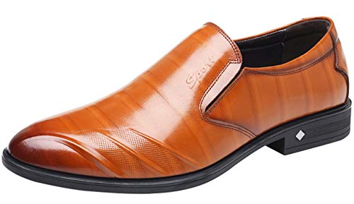 Fashion Perezosos Planos Love Zapatos And Hombres Para Brown Comfortable De Vestir xOg4w7wqP0