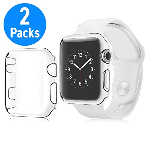 Crystal Snap Hard Case Cover - Insten [2-Pack] Apple Watch 2/ Apple Watch 3 (42MM) Protective Case [Ultra Thin/Lightweight] Transparent Snap-in Hard Case Crystal Cover For Apple Watch Series 2/ Series 3 (42MM) Only, Clear