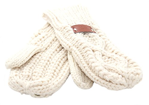 ウェブ象検体Aran Traditions Cream Cable Knit Mittens
