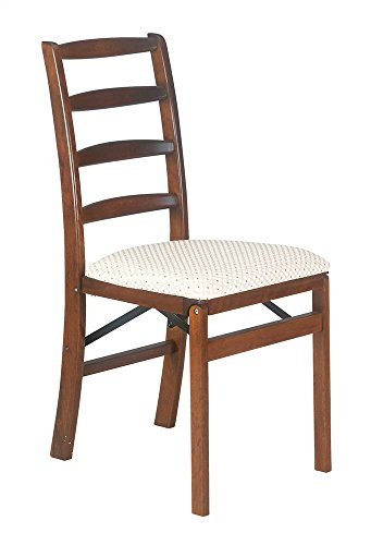 Stakmore Shaker Ladderback Folding Chair Finish, Set of 2, Fruitwood - Folding Chair Ladder