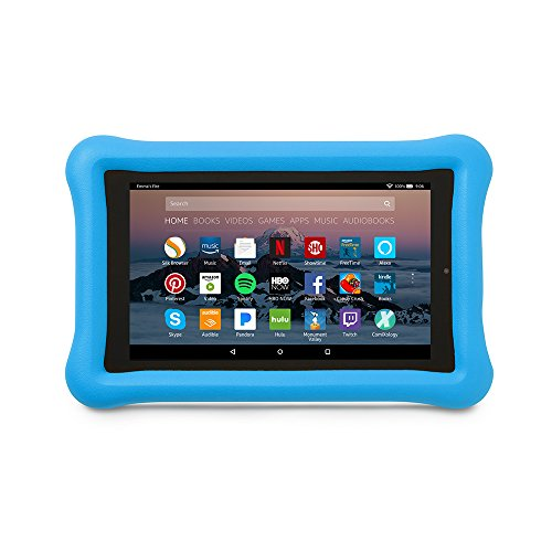 Amazon Kid-Proof Case for Amazon Fire 7 Tablet (7th Generation, 2017 Release), Blue (Lg Tablet Case Otter Box)
