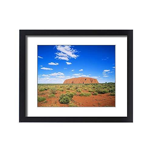 Media Storehouse Framed 20x16 Print of Ayers Rock, Uluru National Park, Northern Territory, Australia (9920141)