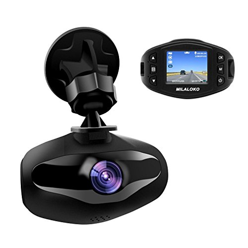 Mini Dash Cam, MILALOKO 1080P Full HD Dash Cam fors Car Dashboard Camera Video Recorder Built in Sony Sensor, 650NM Lens, WDR, Loop Recording, Motion Detection, Park ing Monitor and G-Sensor (D013)