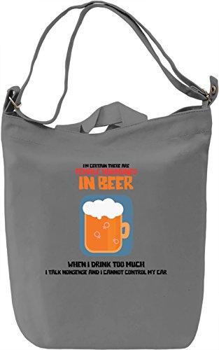 Female hormones in beer Borsa Giornaliera Canvas Canvas Day Bag| 100% Premium Cotton Canvas| DTG Printing|