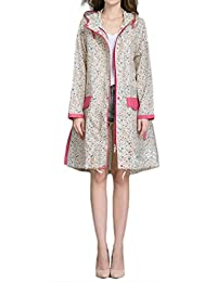 Women's Pardon My Trench Raincoat Jacket (Floral(Chest:42.5In))