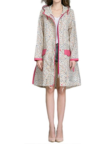 Women's Pardon My Trench Raincoat Jacket (Floral(Chest:42.5In))...