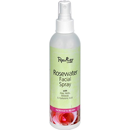 Reviva Labs Facial Spray Rosewater - 8 fl oz (Pack of 4)