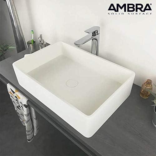 Lavabo de salle de bain vasque /à poser en c/éramique Forme Rectangulaire couleur finition marbre satvario Lavabo Meuble de Salle de Bain Monter Salle dEau Cabine de Toilette 46 x 32 x 13 cm
