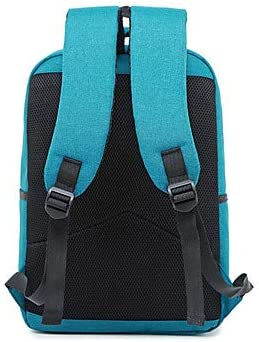 FANFEI Large Capacity Oxford Zipper School Borsa Solid Color Daily Gray/Sky Blue/Royal Blue/Fall Winter, Nero Grigio