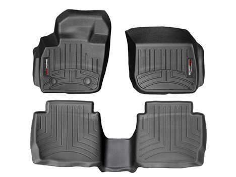 (WeatherTech 2013-2014 Ford Fusion Black Floor Liners (Full Set: 1st and 2nd Row) [Automatic Transmission Only])
