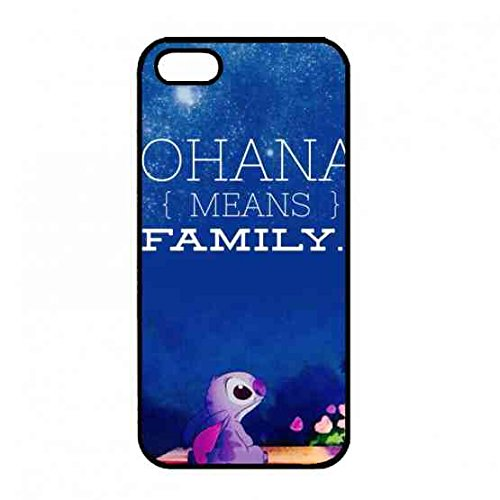 Personality Ohana Cover Case,Hard iPhone 5/5S/SE Bumper Case,Disney Animated Film Lilo & Stitch Case