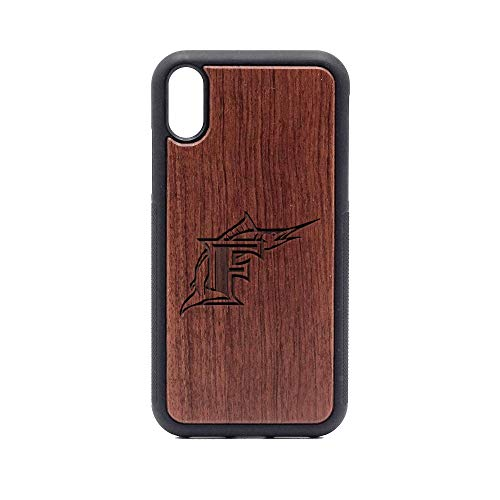 - Logo Florida Marlins 1 - iPhone XR Case - Rosewood Premium Slim & Lightweight Traveler Wooden Protective Phone Case - Unique, Stylish & Eco-Friendly - Designed for iPhone XR
