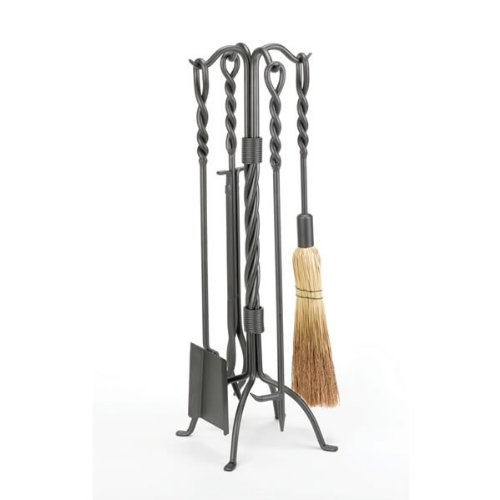 - Woodfield Vintage Iron Twisted Rope 5-piece Tool Set for Fireplace