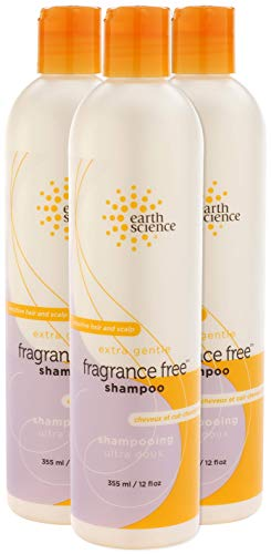 EARTH SCIENCE - Extra Gentle Fragrance Free Shampoo for Sensitive Hair and Scalp (3pk, 12 oz.)