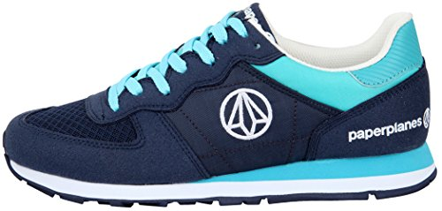 Paperplanes-1142 Unisex Fashion Kleurrijke Low-top Sneakers Sneakers 1142-marine