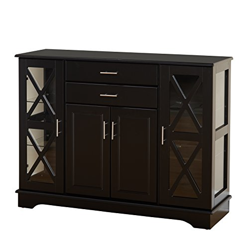 Target Marketing Systems 30110BLK Kendall Buffet, Black (Large China Cabinet)