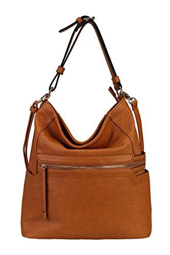 rimen-co-pu-leather-simpilicity-front-zipper-causal-hobo-womens-purse-handbag-jq-1864-brown