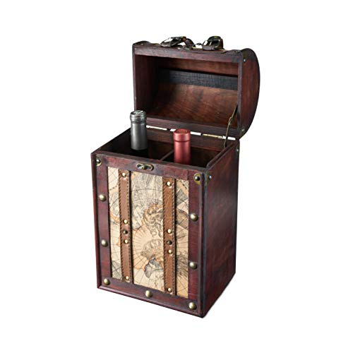 Chateau 2 Bottle Old World Wooden Wine Box by Twine ()