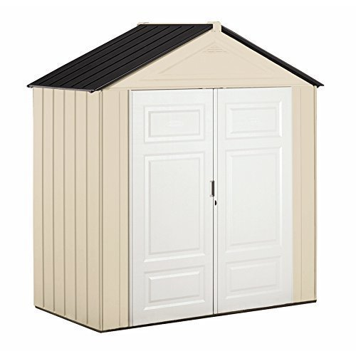 - Rubbermaid Outdoor Shed, Plastic, 7x3 Feet, Maple/Sandstone (1862705)
