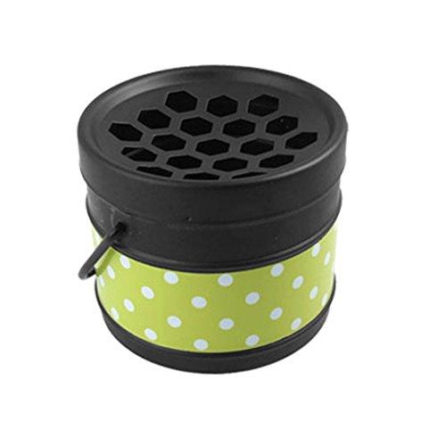 Portable Travel Dot Bucket Ashtray Desk Decor Black Green