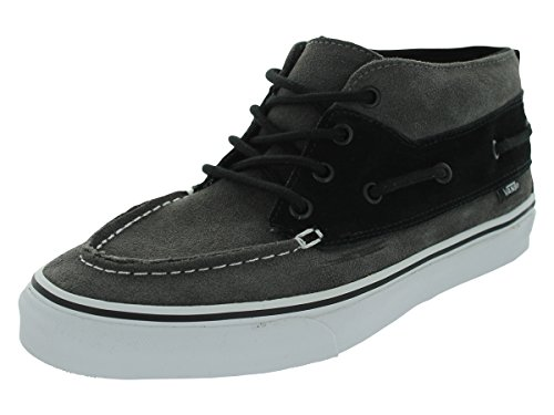 Vans Unisexs VANS CHUKKA BOOT (SUEDE) SKATE SHOES (PEWTER/BLACK) Grey