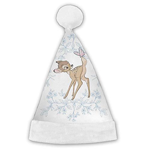 Deer Fabric Red Velvet Christmas Santa Horse Cap With Plush Trim by Customgogo