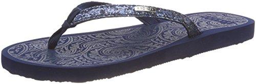 ESPRIT Damen Alice Glitter Pantoletten Blau (Dark Blue)