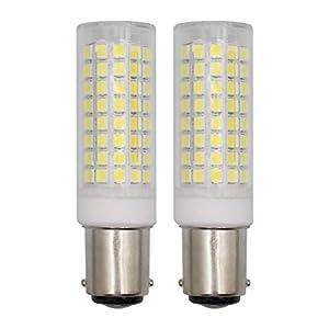 B15D LED Light Bulbs 6W Dimmable, AC 220V-240V Daylight White 6000K Double Contact Bayonet Base, Equivalent to 60 Watt…