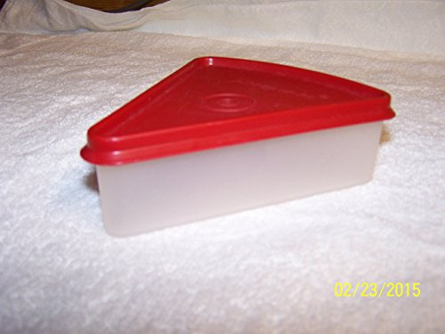 - Tupperware Pie Wedge Container Sheer with Vintage Red Seal