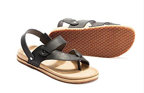 JiZhi Uomo scarpe / estate antisdrucciolevole sandali / ciabatte / infradito / clip piedi traspirante / scarpe da spiaggia / casuali tallone piano / Walking , black , 43