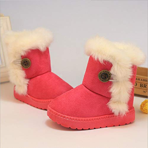 Winter Baby Boys and Girls Shoes Kids Snow Boots Warm Cotton Thick Buckle Strap Shoes Children Clothing,01,9.5