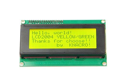 KNACRO IIC I2C TWI LCD2004 Serial Yellow Backlight LCD Module for Arduino UNO R3 MEGA2560 20 X 4, 2004 Green Letters on Yellow Display(2004, Yellow)