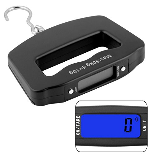 LCD display NEW 50kg/10g Portable LCD Digital Fish Hanging Luggage Weight Electronic Hook Scale Free shipping