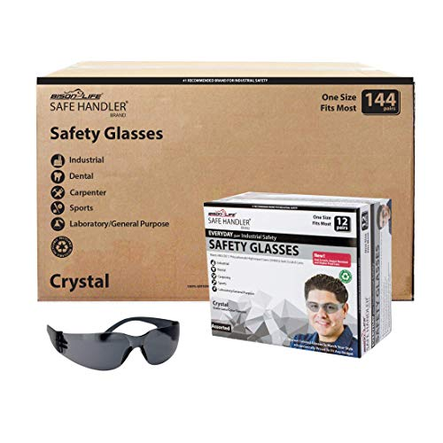 SAFE HANDLER Full Color Safety Glasses | One Size, Adult, Youth, Full Color Polycarbonate Lens and Temple, BLACK, Box of 12 (Case of 12 Boxes, 144 Pairs Total) by Safe Handler (Image #9)