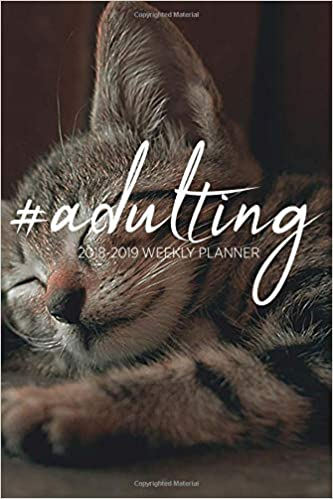 February 2020 Book It Calendar Adulting, 18 Month Weekly Planner: 2018 2019: Kitten/Cat
