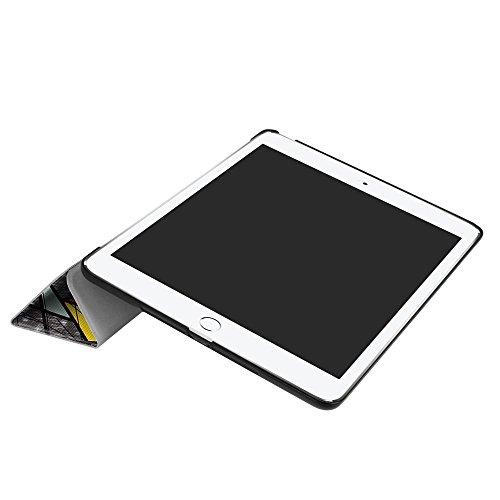 Funda iPad 9.7 2017 - DETUOSI Ultra Slim Fundas Nuevo ipad 9.7 Función de Soporte,Smart Cover Protectora Función de Soporte Plegable Carcasa para Apple New iPad 2017 Tablet de 9.7 pulgadas -Búho clási Ventana de la iglesia