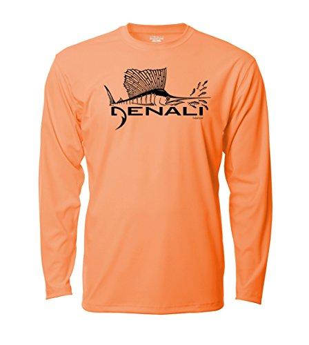 Denali Performance Men's UPF 50+ ProtectUV Mega Solar Long Sleeve T-Shirt with Denali Sailfish ()