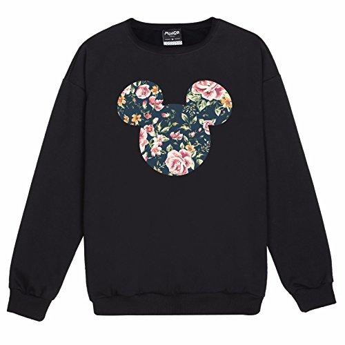 Minga London Mickey Floral Sweater Top Women's Fun Tumblr Indie for $<!--$21.00-->