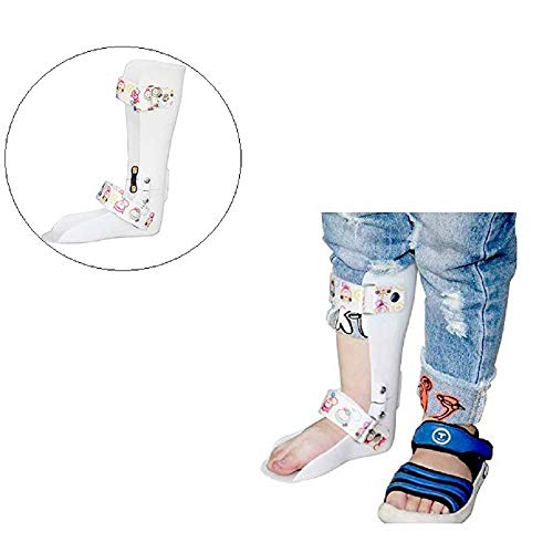Kids AFO Drop Foot Splint – Ankle Orthosis – Toddler Custom Othopedic Ankle Foot Brace Night Splint Support for Children,Left,7.1IN