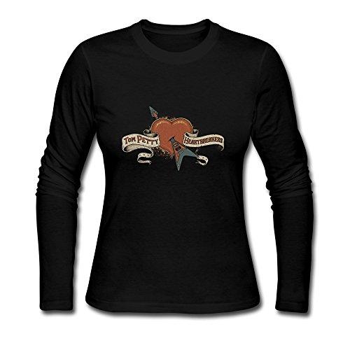 LUYI Women's The Heartbreakers Tom Petty Long Sleeve Tshirt L Black