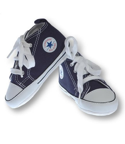 Converse Navy Chuck Taylor First Star Hi Soft Trainers c72970352