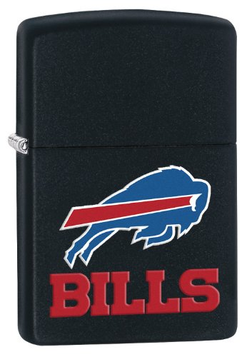 Zippo Lighter - NFL Buffalo Bills Black Matte