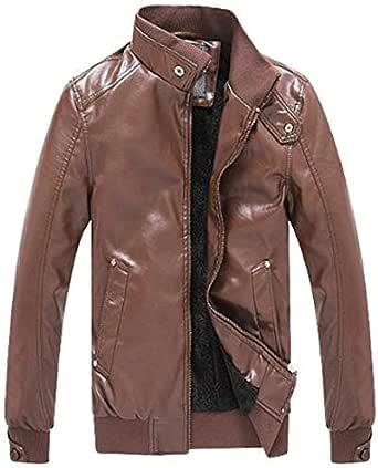 Men's PU leather jacket business & washed leather jacket