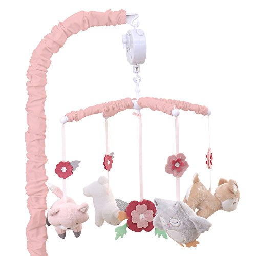 Pink Mobile Themes (Woodland Whimsy Forest Animal Musical Mobile by The Peanut Shell)