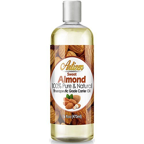 Artizen Sweet Almond Oil - 16oz (Ounce) Bottle (100% Pure