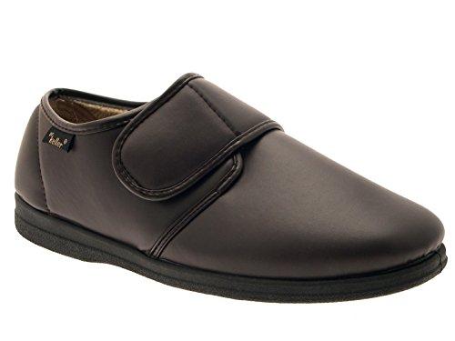 LD Outlet - Zapatillas de estar por casa de sintético para niño Multicolor negro/marrón marrón - marrón