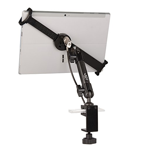 The Joy Factory Lockdown Universal C-Clamp Carbon Fiber Security POS Mount with Combo Lock for 7