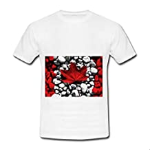 For T-Shirt S Size Printing Canadian Flag Cotton For Women Nice