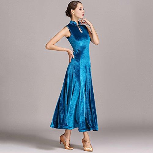 en jiu de danse blue robe goutte sans velours slim. Black Bedroom Furniture Sets. Home Design Ideas