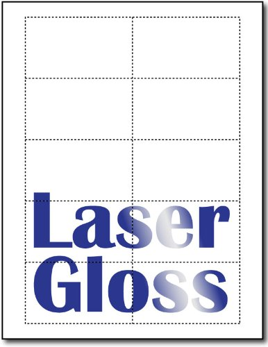Laser Gloss Business Cards - 25 Sheets / 250 Business Cards